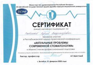 сертификат н-п конференции