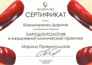 сертификат об обучении Казимиренко Д.В.