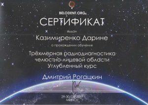 сертификат 2017 Казимиренко Дарины